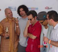 Me, Jay Lane, Will Bernard, Miles Perkins & Peter Horvath backstage at the California Music Awards in 2004.